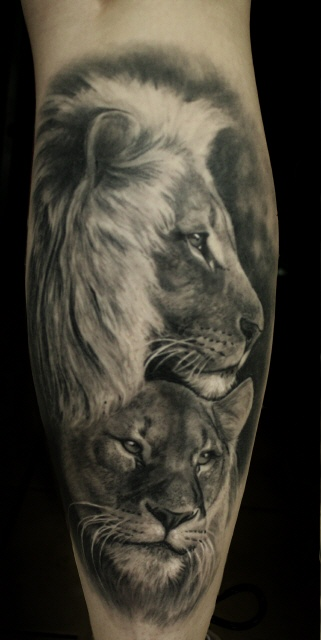 Löwentattoo