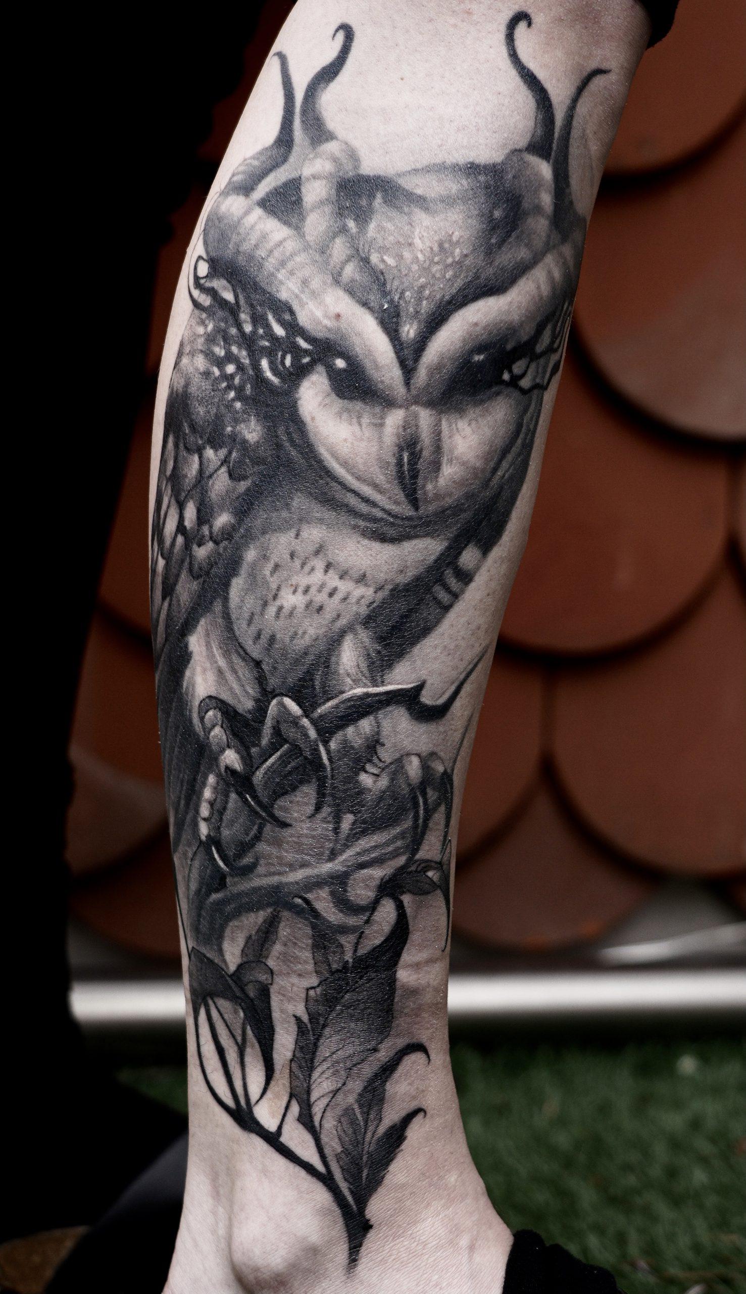 Eule Tattoo
